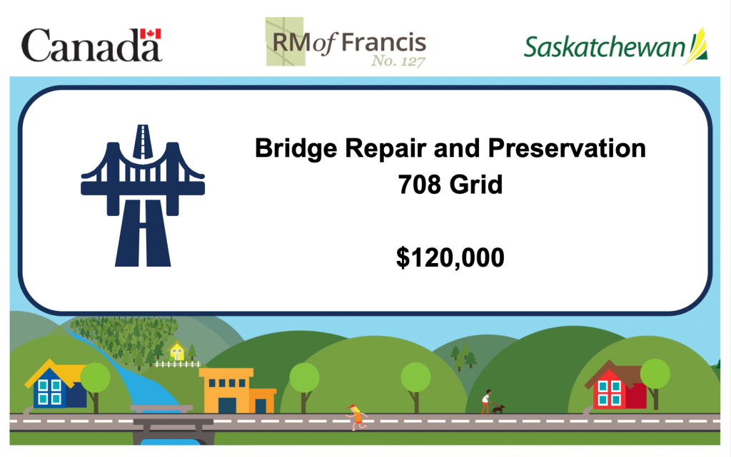 BRIDGE REPAIR FUNDED BY THE FEDERAL GOVERNMENT GAS TAX FUND AND ADMINISTERED BY THE SASKATCHEWAN PROVINCIAL GOVERNMENT